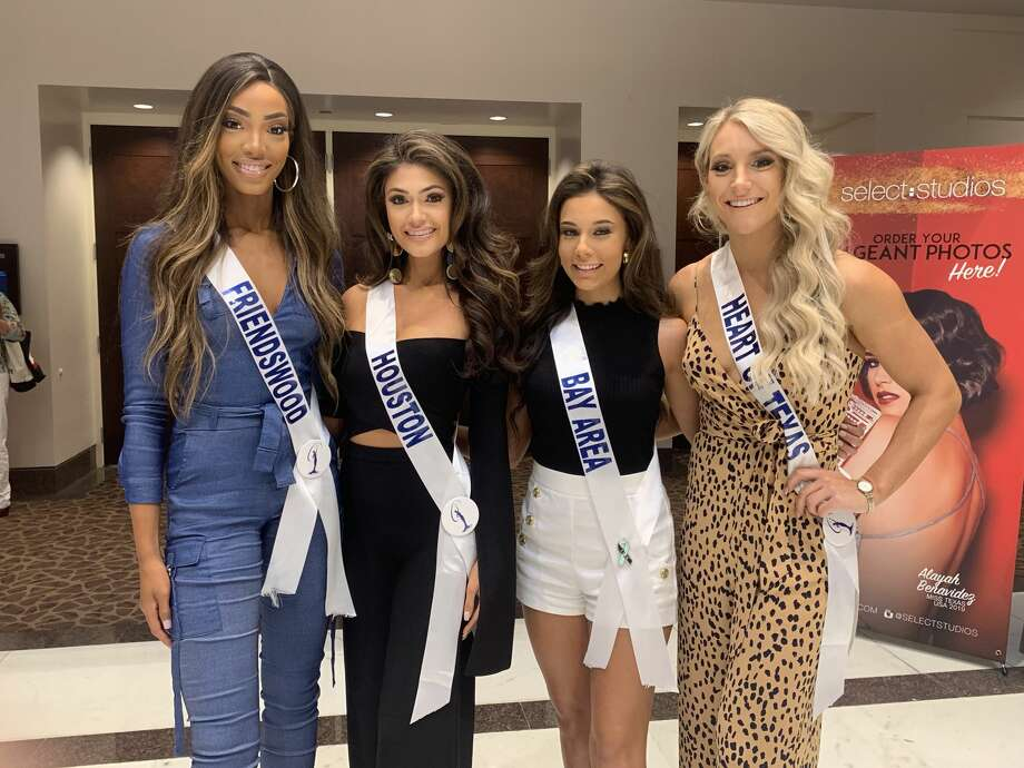 Representing the Bay Area in the Miss Texas 2020 USA pageant were Lesha Wincher of Friendswood, Miss Houston USA Blaine Ochoa, Miss Bay Area Carly Moran and Miss Heart of Texas USA Christina Dillon of Clear Lake. Photo: Select Studios Photography