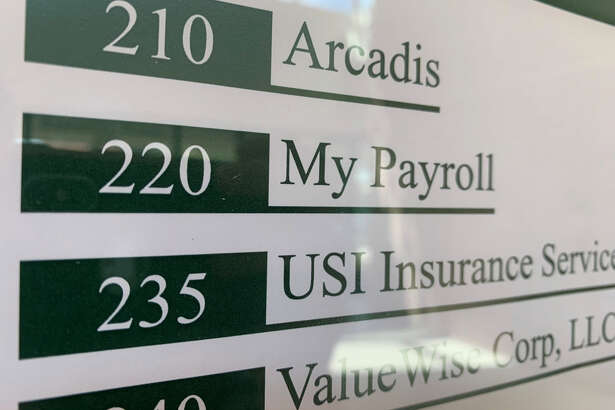 Knocks on the door of the company's Clifton Park Boulevard office went unanswered Friday morning. MyPayrollHR's sign had been removed from the wall and business cards advertising a different payroll business had been placed in front of the door.