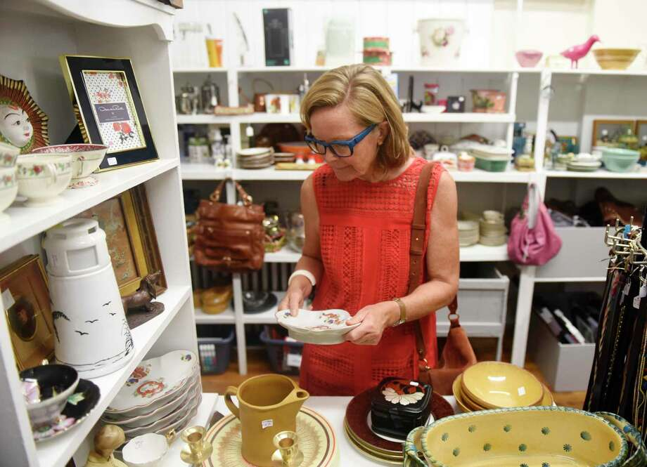 Old Greenwich's Irene Willisch shops during the grand re-opening of the Rummage Room in Old Greenwich, Conn. Tuesday, Sept. 3, 2019. The volunteer-powered thrift shop just re-opened for its 55th year following a short summer break, allowing the store to restock its shelves with new and exciting bargains. Photo: Tyler Sizemore / Hearst Connecticut Media / Greenwich Time