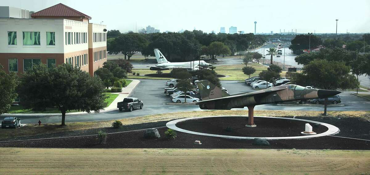 Air Force jets on static display are still present at Port San Antonio, where massive job growth has been seen in the last two years.