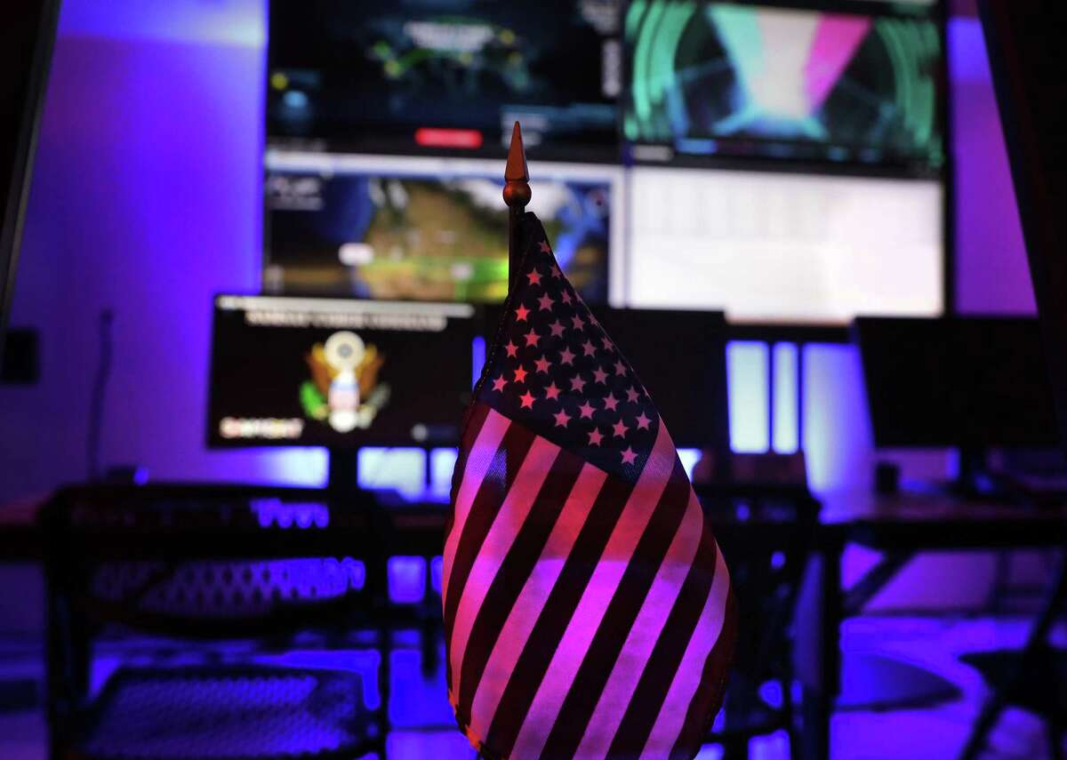 A cyber Security Operation Center simulation at the San Antonio Museum of Science and Technologies at Port San Antonio, where massive job growth has been seen in the last two years.