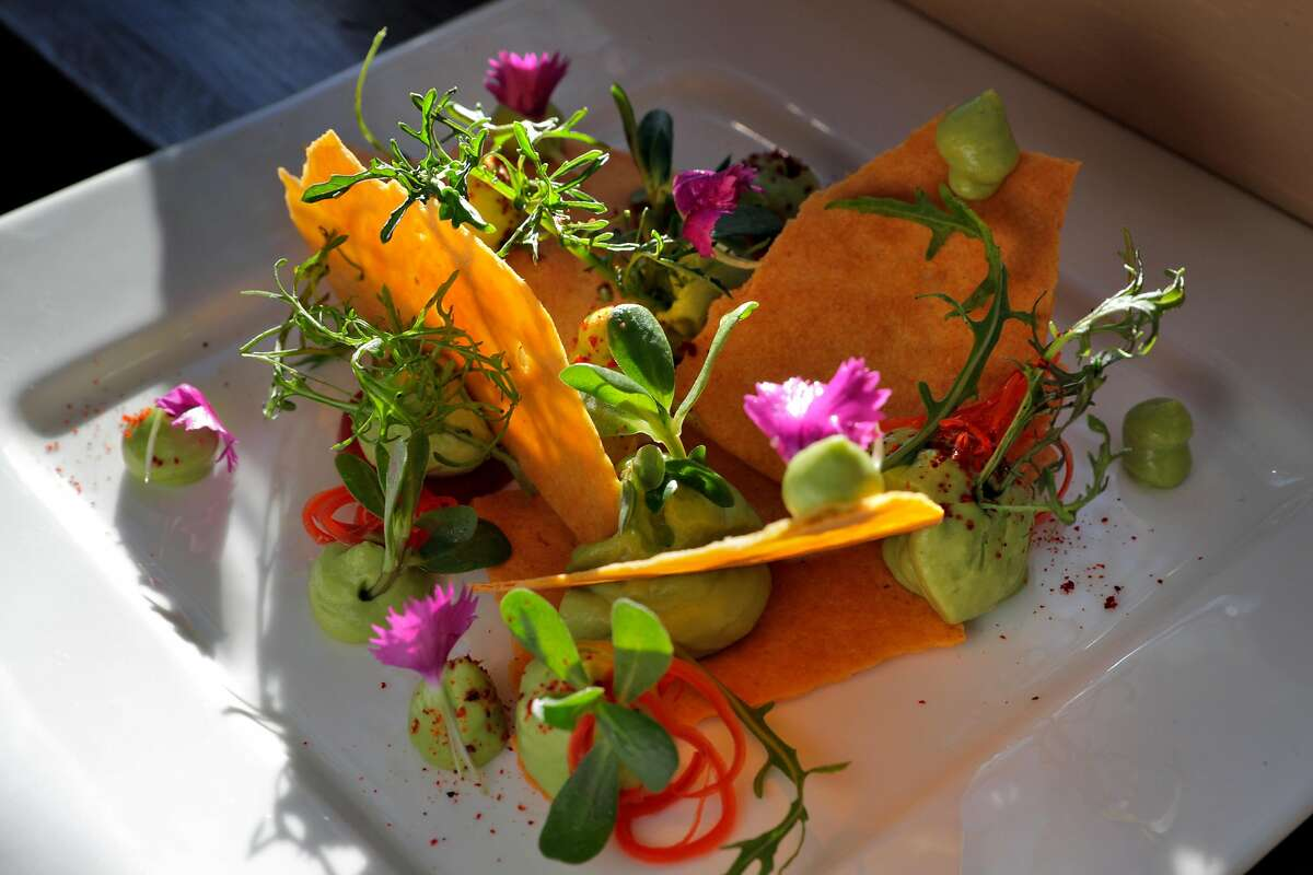 The Avocado and Khakra Salad served at Spice of America, an Indian-Nepalese restaurant in San Francisco, Calif., on Sunday, September 1, 2019.