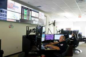 Alarm Medic Scott McCully works with emergency services through out Montgomery County at Montgomery County Hospital District's call center, Friday, Aug. 30, 2019, in Conroe. The call center is one of few accredited internationally in both fire and medical response.