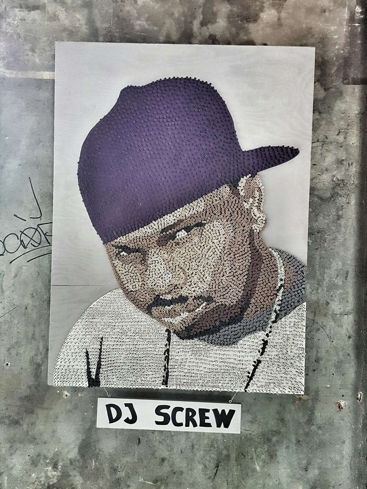 Screwed up Sunday was started when one of Screw's family members contacted an artist and friend of Soroka after she found a piece he did honoring the late rapper. The artist, who goes by Donkeeboy, made the piece completely out of screws during an event at the brewery more than five years ago. Photo by: Jeff S/Yelp