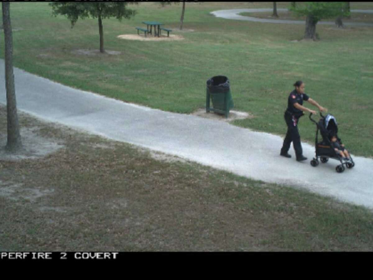 According to a Facebook post from Harris Co. Pct. 4 Constable Mark Herman, Deputy Corie Buchanan was patrolling a Harris county park when she noticed a young mother struggling with her child.