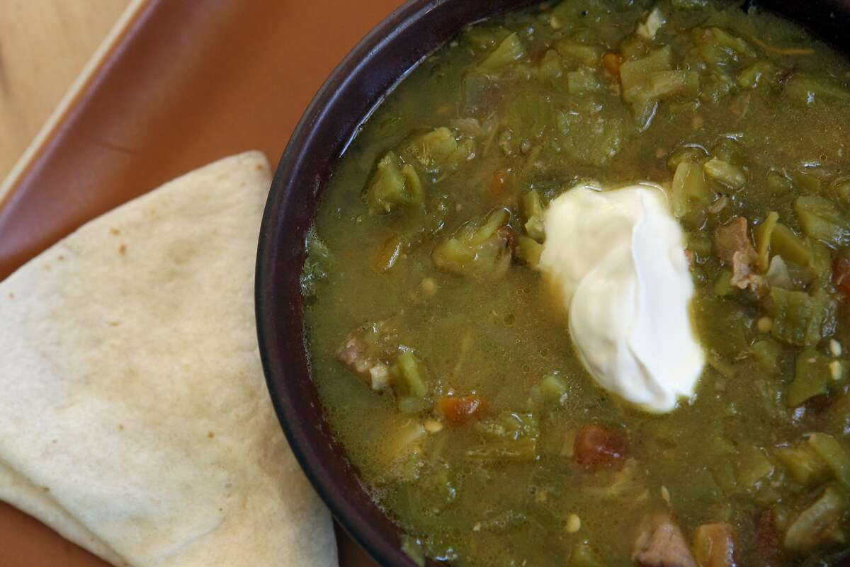FILE-- The green chile stew at The Green Chile Kitchen. Green Chile Kitchen abruptly announced its closure on Tuesday Sept. 3, 2019 after 14 years in San Francisco.