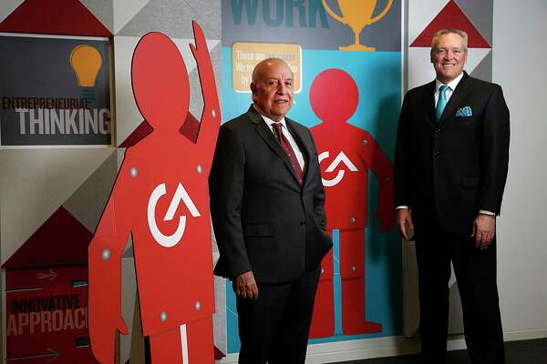 G&A Partners CEO Antonio Grijalva left, and President and COO John Allen right, pose for a portrait Wednesday, May 25, 2016, in Houston. ( James Nielsen / Houston Chronicle )
