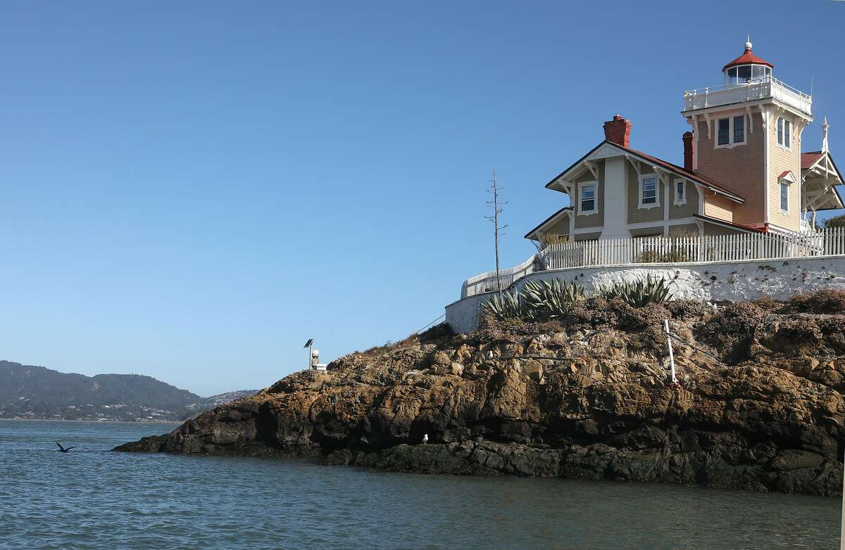 new innkeepers Tyler Waterson & Tiffany Danse, as well as photos of the historic 1873 buildings that house the inn and the general atmosphere of the island itself on Tuesday, July 23, 2019 in San Francisco, Calif. bed and breakfast at the East Brother Light Station on a small island just off Point San Pablo Harbor