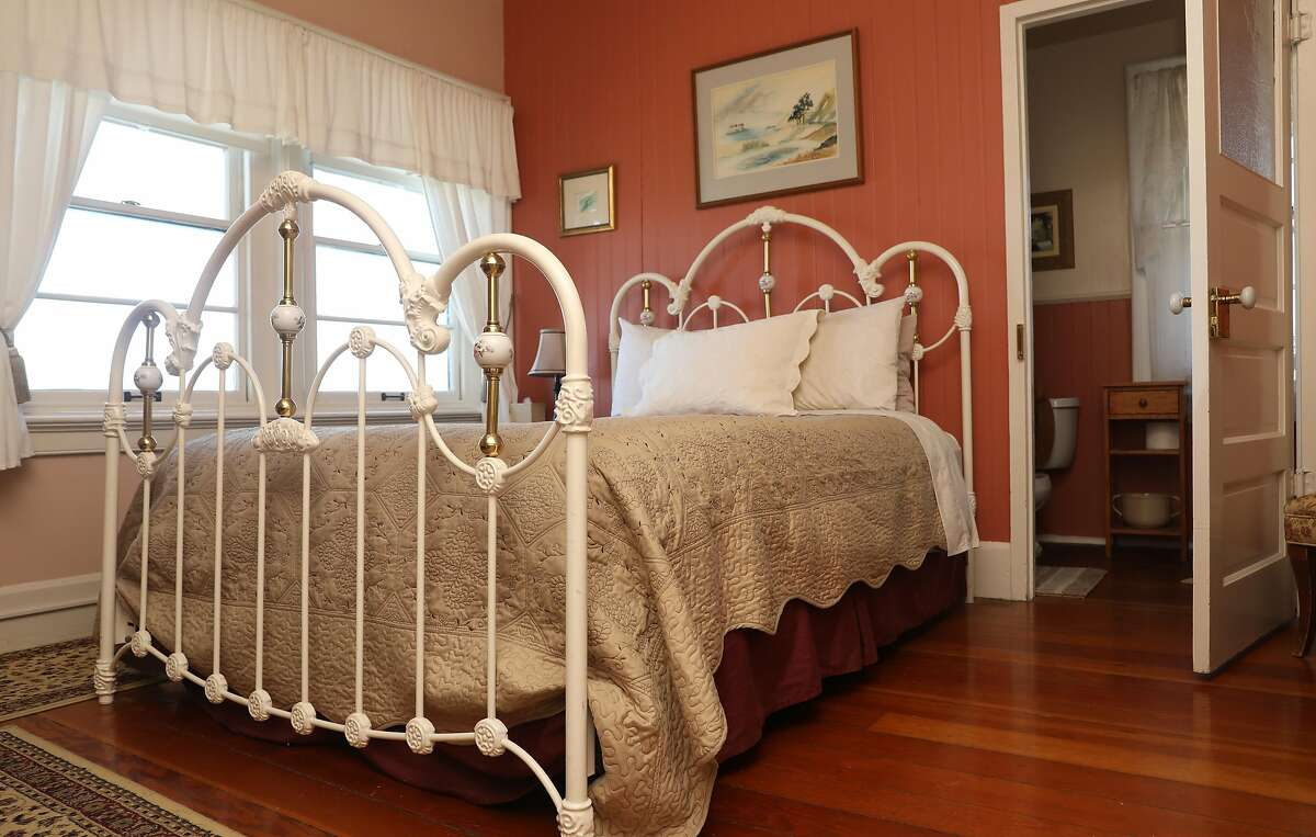 View of the second floor bedroom in the bed and breakfast at the East Brother Light Station located on a small island just off Point San Pablo Harbor on Tuesday, July 23, 2019 in Richmond, Calif.