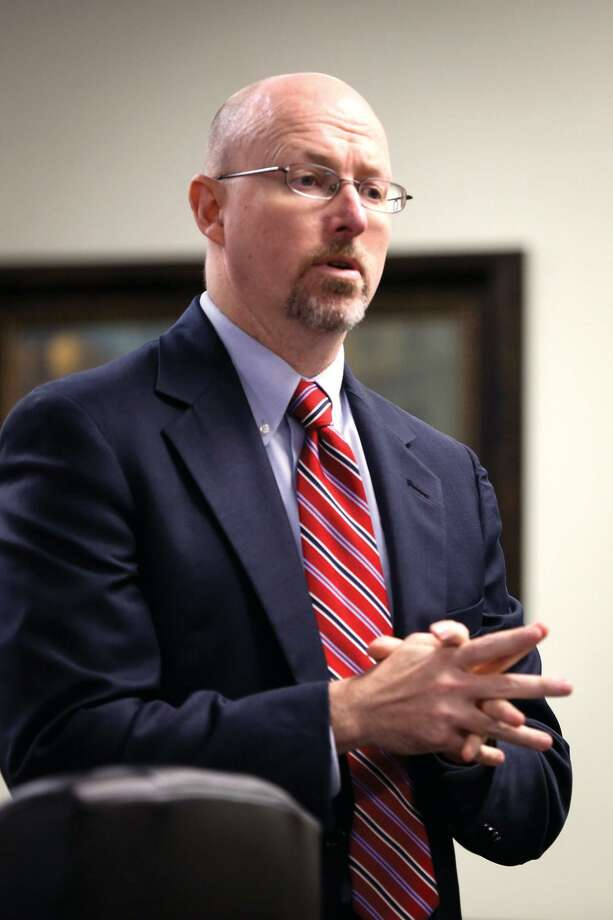 First Assistant District Attorney Mike Holley said while a new law making it illegal to send sexually explicit photos without consent could have first amendment issues, the law is clear. Photo: Michael Minasi, Photographer