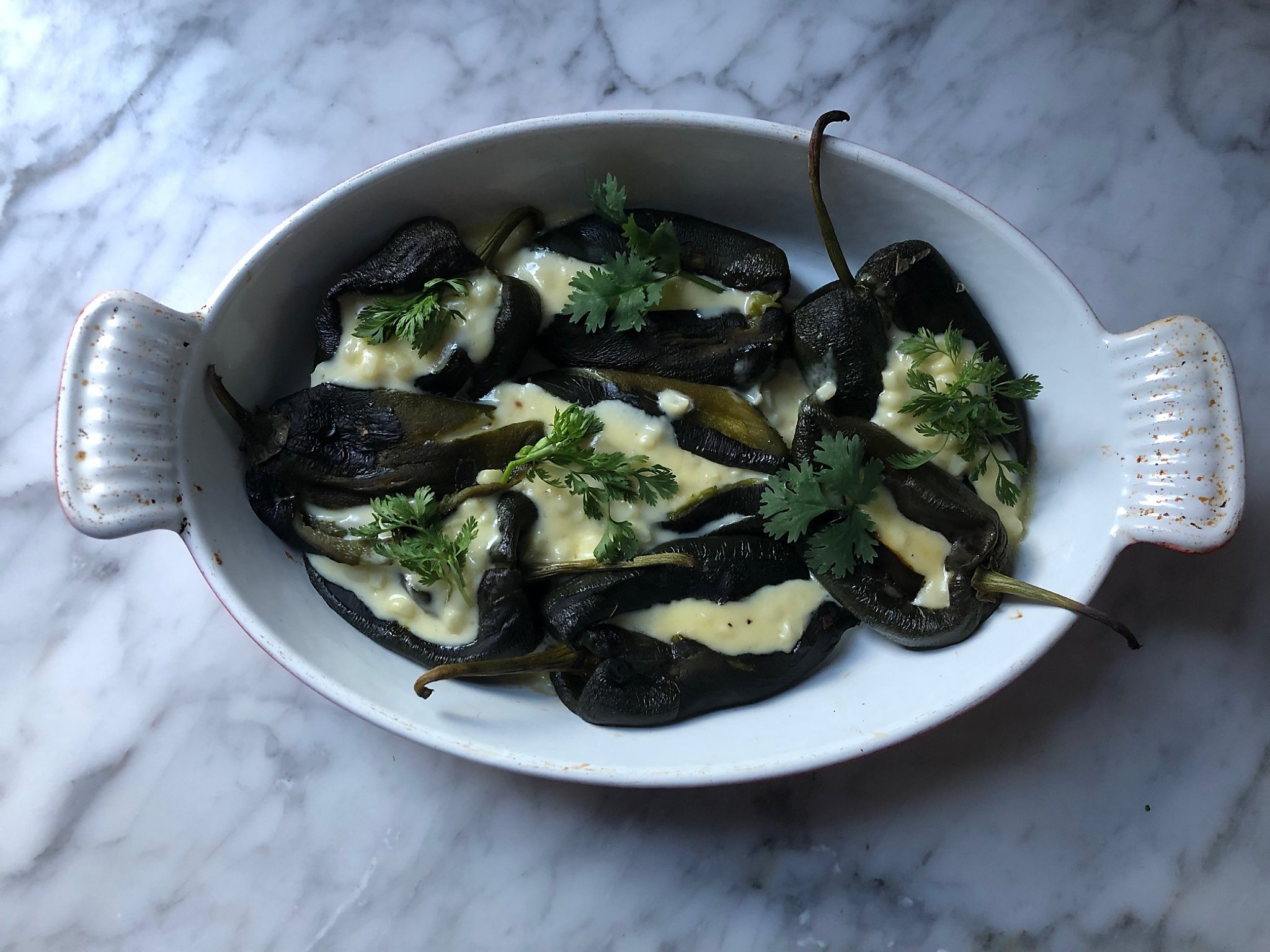 Repertoire: Roasted Chiles Rellenos