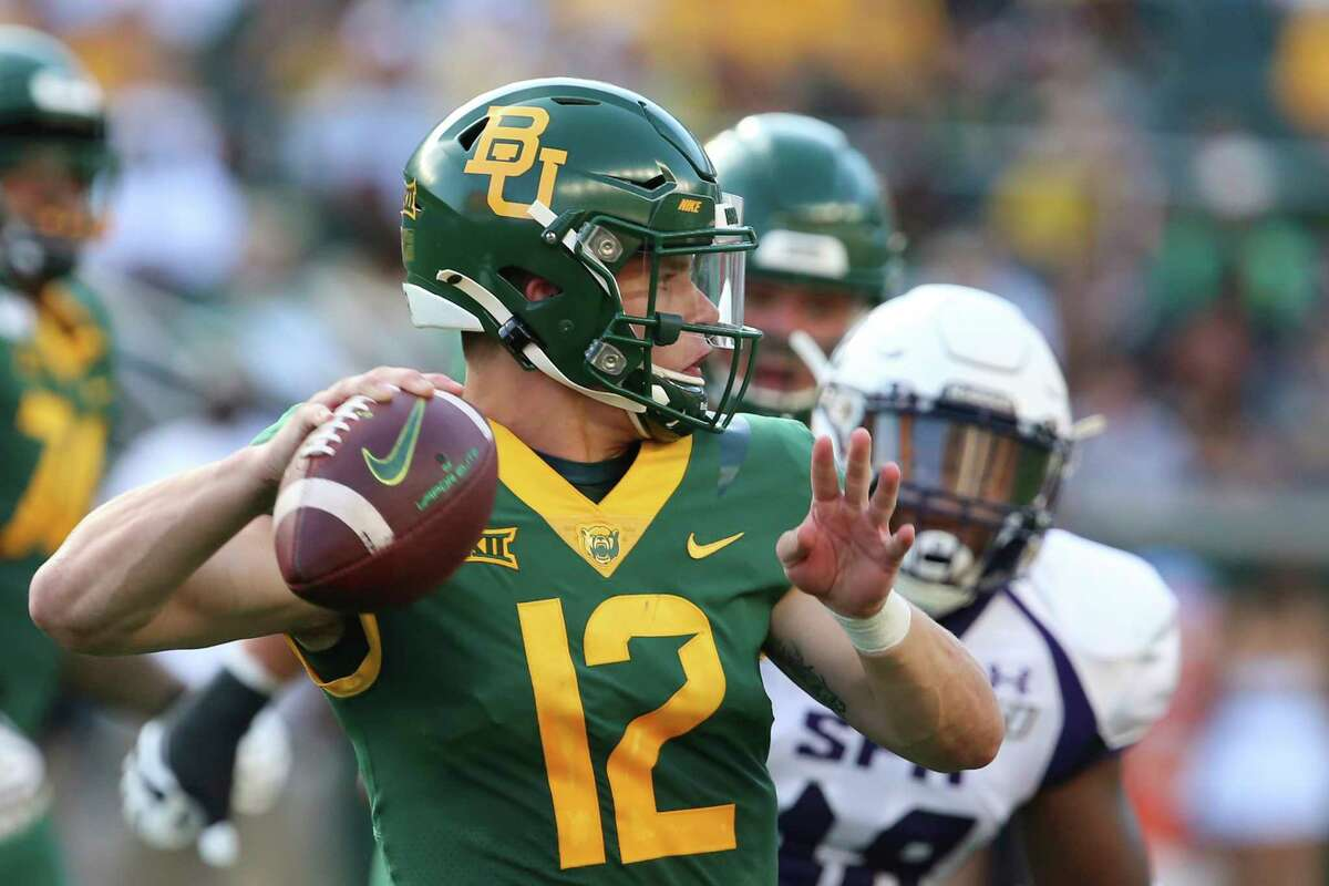 PHOTOS:College football betting odds for Week 2 FILE - In this Aug. 31, 2019, file photo, Baylor quarterback Charlie Brewer throws downfield against Stephen F. Austin in the first half of an NCAA college football game, in Waco, Texas. Charlie Brewer is finally entrenched as Baylor's quarterback in his third season starting games. Frank Harris, also a touted dual-threat recruit as a Texas high school senior three years ago, is just getting started at UTSA. (Rod Aydelotte/Waco Tribune-Herald via AP, File) >>>See the odds for this week's matchups ...
