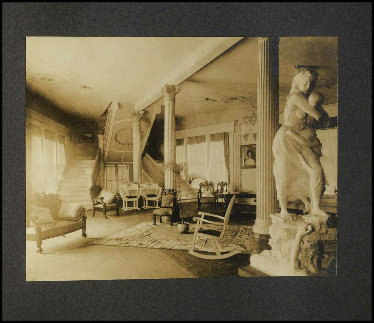 """Pompeo Coppini's plaster version of """"Victims of the Galveston Flood"""" as it appeared during the 1904 World's Fair in St. Louis."""