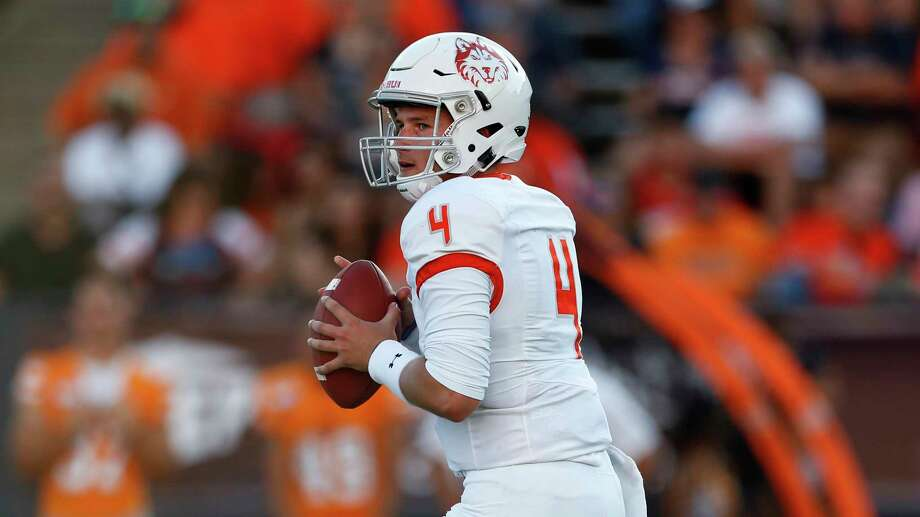 PHOTOS: Texas college football betting odds  Houston Baptist quarterback Bailey Zappe searches for a receiver during the first half of an NCAA football game against UTEP on Saturday, Aug. 31, 2019 in El Paso, Texas. (AP Photo/Andres Leighton)  >>>See the odds for this week's matchups ...  Photo: Andres Leighton, Associated Press / Copyright 2019 The Associated Press. All rights reserved.