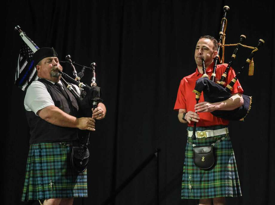 """The band """"Piper, Rock, Scissors"""" performs during Lamar University's International Cultural Festival at the Montagne Center Saturday afternoon. Photo taken on Saturday, 04/13/19. Ryan Welch/The Enterprise Photo: Ryan Welch, Beuamont Enterprise / The Enterprise / © 2019 Beaumont Enterprise"""