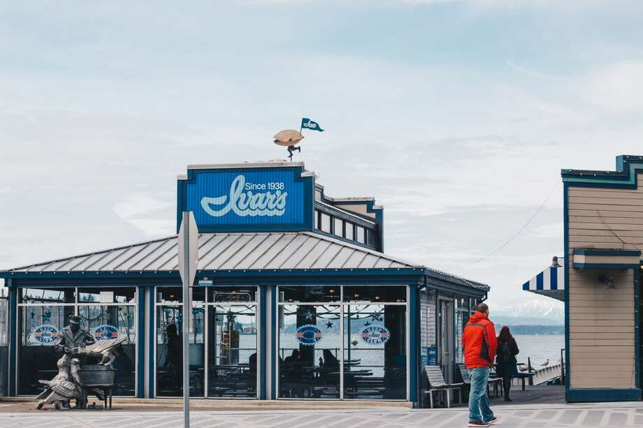 "Ivars: Even Seattle's seafood chain is hopping in to support the Hawks. Deck out in your usual blue or green attire for ""Blue Fridays,"" and reap game day specials varying week by week, from $12 for two entrees and $12 bottles of wine, to $1.20 cups of chowder, onion rings, and fountain drinks. Photo: Hailey C/Yelp"