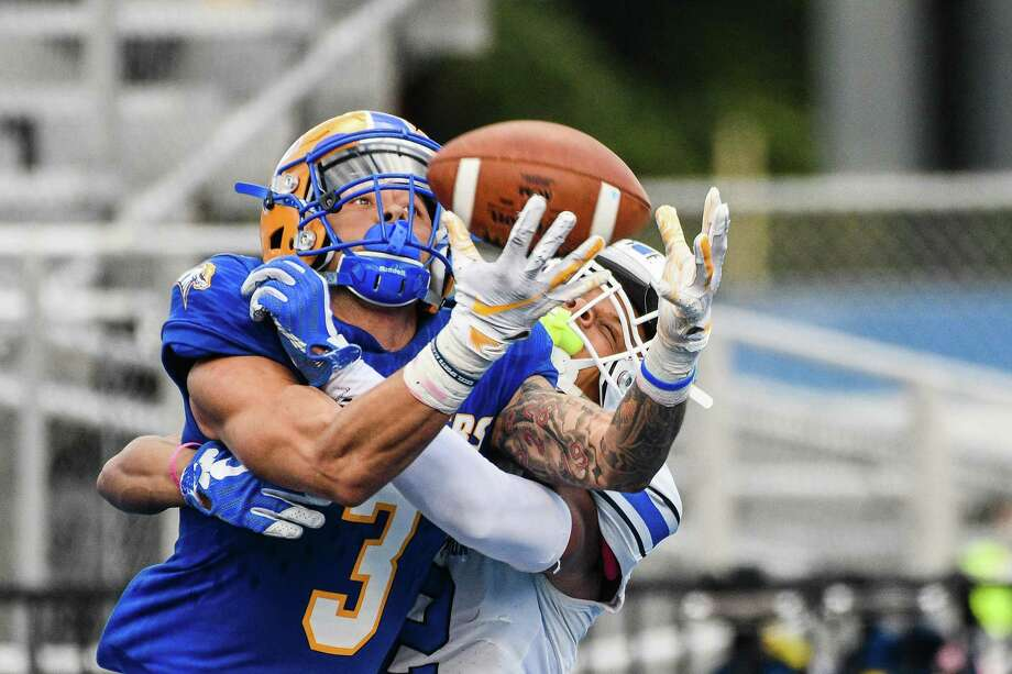 University of New Haven football player Ju'An Williams during a game in 2019. Photo: University Of New Haven / Contributed Photo / © 2017 Clarus Studios Inc.