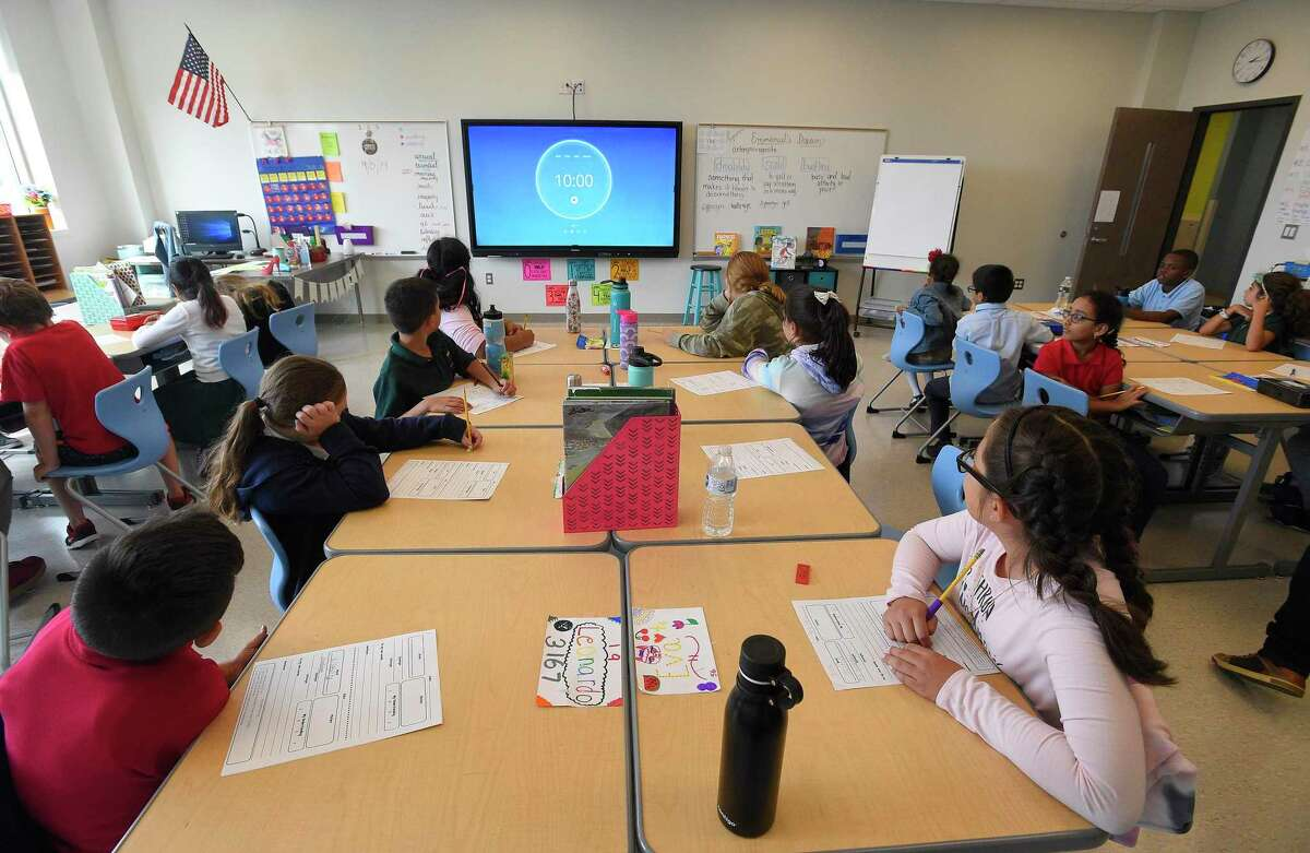 Technology and innovation bring students into a state of the art learning facility at Strawberry Hill School on Sept. 5, 2019 in Stamford, Connecticut.