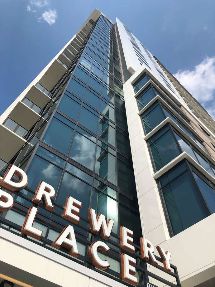 Drewery Place is the first building to be completed in Caydon's five-phase residential and hospitality development in Midtown. The overall project, called Laneways, will cover three blocks bounded by Fannin, Tuam, Main and McGowen. Photo: Nancy Sarnoff
