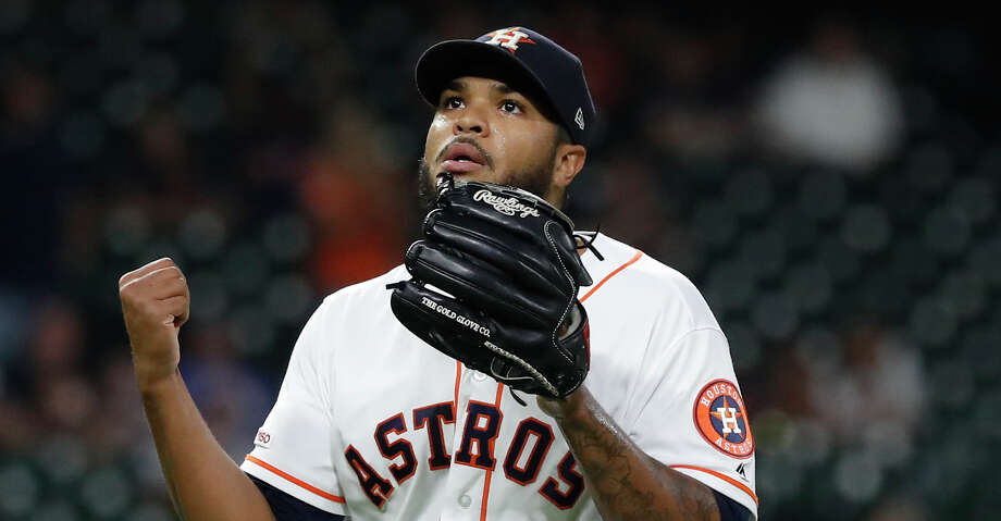 PHOTOS: Astros game-by-game Houston Astros relief pitcher Josh James (39) reacts after striking out Seattle Mariners Braden Bishop during the thirteenth inning of an MLB game at Minute Maid Park, Thursday, September 5, 2019, in Houston. Browse through the photos to see how the Astros have fared in each game this season. Photo: Karen Warren/Houston Chronicle / @Houston Chronicle 2019
