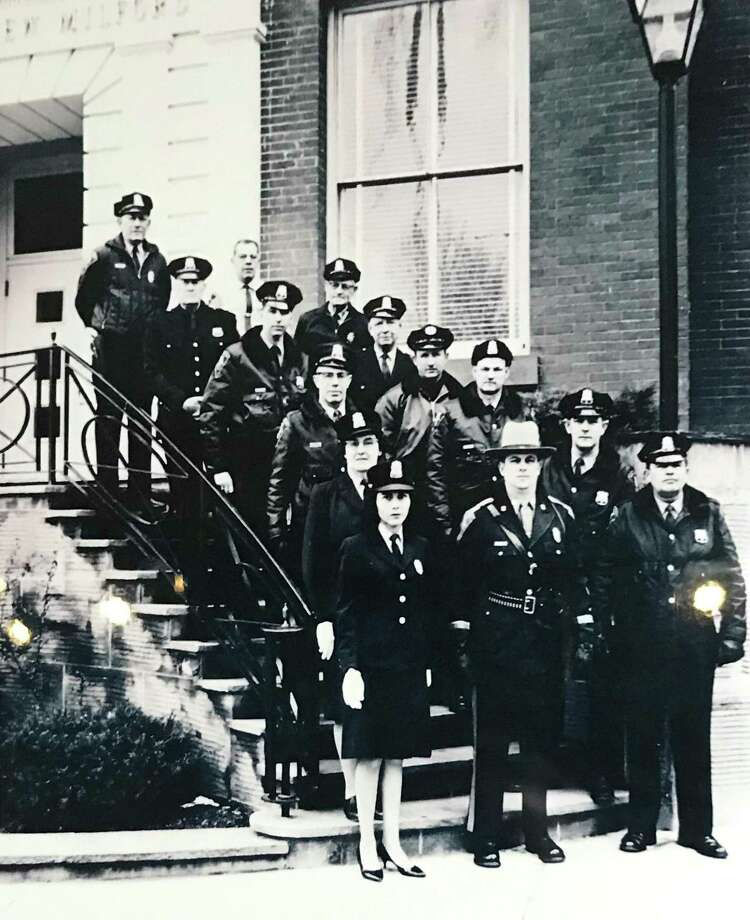 New Milford police officers in 1965. Photo: Contributed Photo / New Milford Police Department