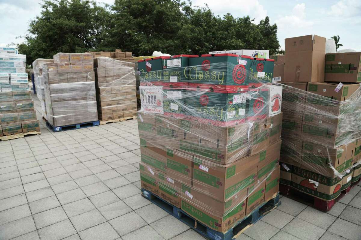 Ft. Lauderdale, Florida, Sept 4, 2019- Hurricane relief supplies are ready to be loaded on the