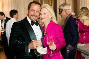 Jorge Maumer and Dede Wilsey at the San Francisco OperaÕs opening night gala masquerade theme cocktail party on Sept. 6, 2019.