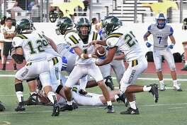 Quarterback Austin Garcia suffered an injury in Nixon's loss to Eagle Pass on Friday. With the loss, the Mustangs are now 0-3 in district play.