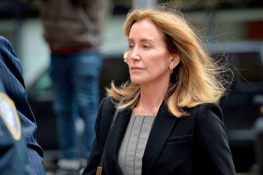 Attorneys for Felicity Huffman requested a year of probation, a $20,000 fine and community service. Photo: Joseph Prezioso / Getty Images