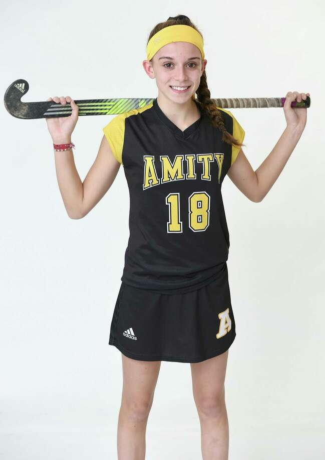 Amity's Tess Csejka has excelled in three different sports in high school and will play field hockey next year at Boston University. Photo: Arnold Gold / Hearst Connecticut Media / New Haven Register