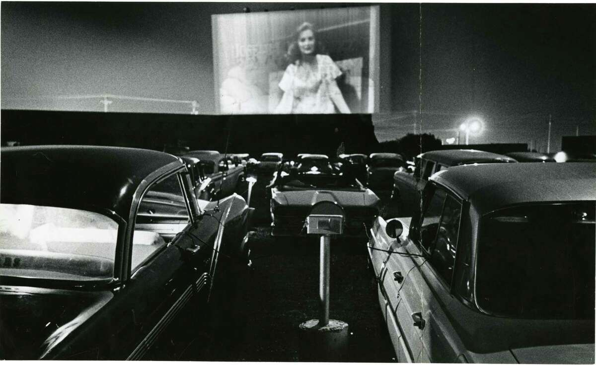 A drive-in movie theater in 1963.