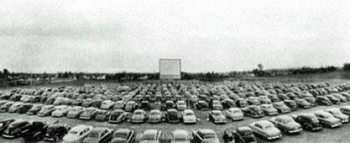 A vintage drive-in movie theater.