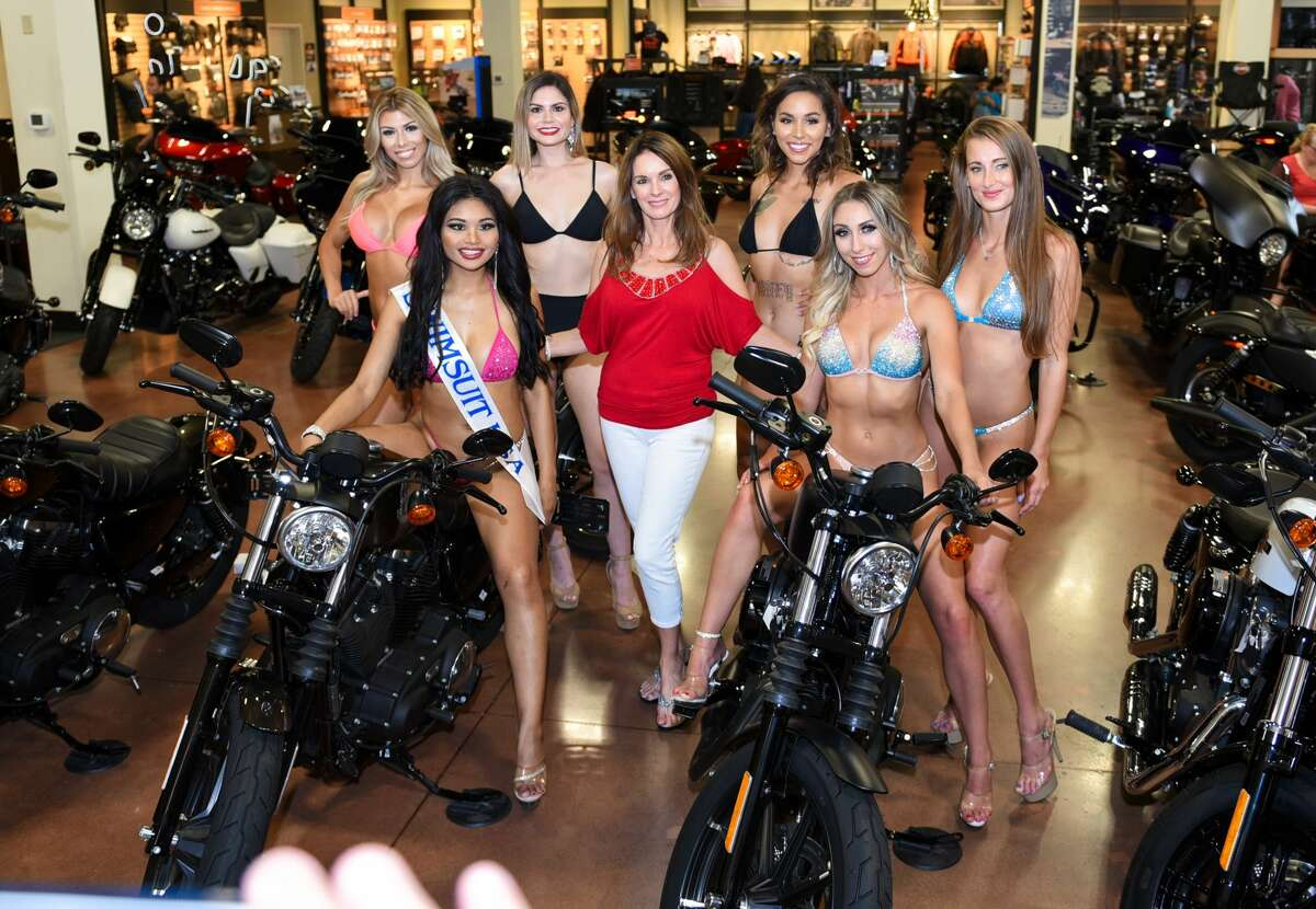 Motorcycle lovers gather at Harley Davidson of Laredo on Saturday, Sep. 7, 2019, for the Miss Laredo HD 2019 swimsuit competition.