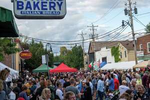 North Jay Street in Schenectady was crowded for the the 14th Annual Little Italy Street Fest on Saturday, Sept. 7, 2019 (Jim Franco/Special to the Times Union.)