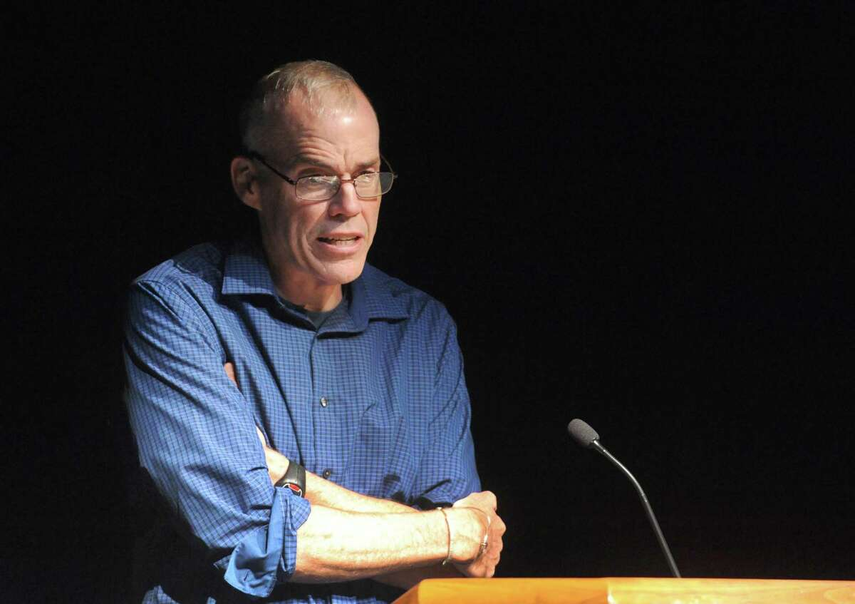 Author and environmentalist Bill McKibben gives a lecture on our current reliance on fossil fuels, the looming climate crisis and, most importantly, our ability to advocate for positive change at UAlbany on Sept. 16, 2014 in Albany, N.Y. McKibben will be the speaker during an event hosted by The Progressive Forum on Sept. 15, 2019 in Houston.