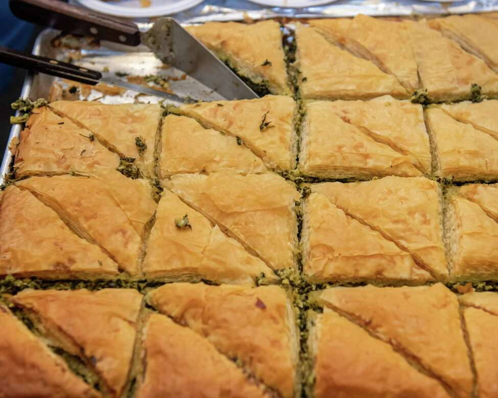 Greek pastries were going quick at the 44th Annual St. Georgea€™s Greek Festival at the St. Georgea€™s Orthodox Church on Clinton Street in Schenectady on Saturday, Sept. 7, 2019 (Jim Franco/Special to the Times Union.)