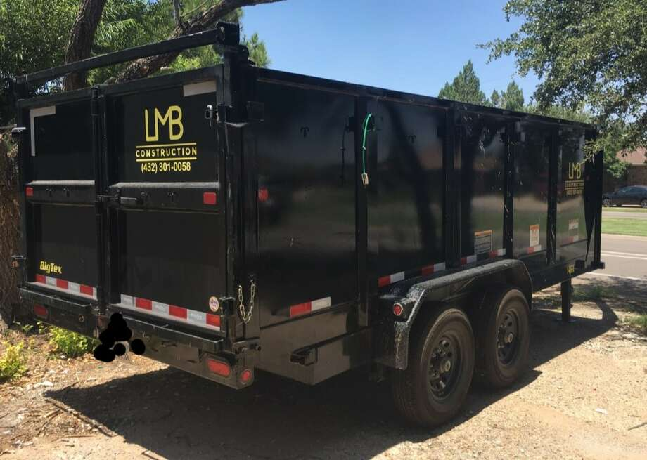 Deputies responded to the 7200 block of East County Road 111 at about 10 a.m. June 1 in reference to a theft. A 2019 16-foot-long Big Tex dump trailer with 4-foot side walls was taken from this location. At the time of the theft, the trailer displayed LMB Construction in bright yellow letters on both sides and on the back of the trailer. Total value is more than $9,000. Photo: Midland Crime Stoppers