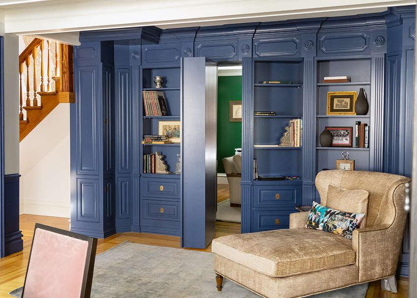 Bonacio Construction built a hidden door between rooms into a bookcase at a house the company renovated at 184 Springs St., Saratoga Springs.