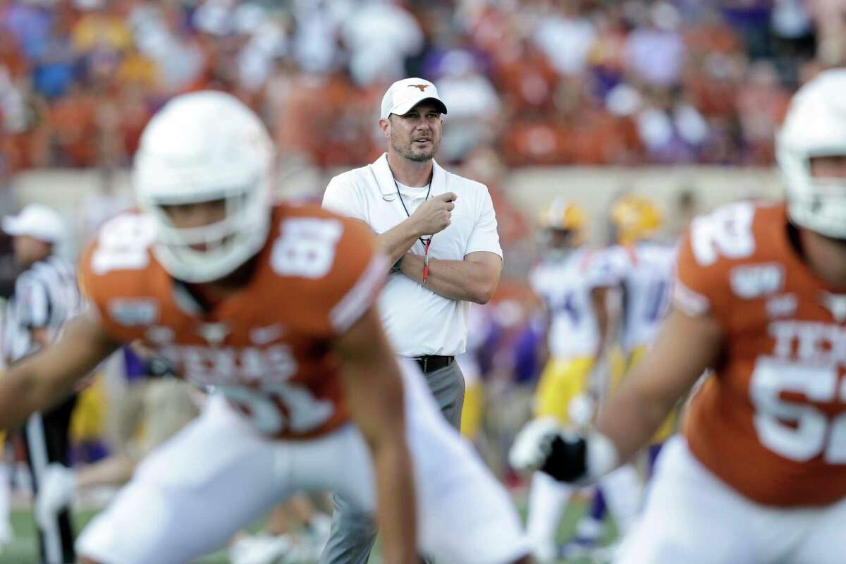 Texas coach Tom Herman is optimistic his team will be on the field for the Sept. 5 opener vs. South Florida.