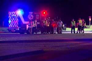 A 2-year-old was critically injured after a major 2-vehicle crash along Beltway 8 at Hollister early Sunday.