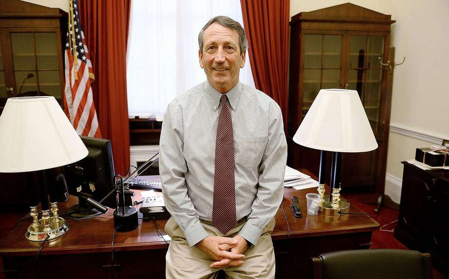 Mark Sanford, shown in his Washington office in 2014 when he was a GOP congressman, is known as a deficit hawk and plans to focus his campaign on holding down federal spending. Photo: Olivier Douliery / Abaca Press 2014