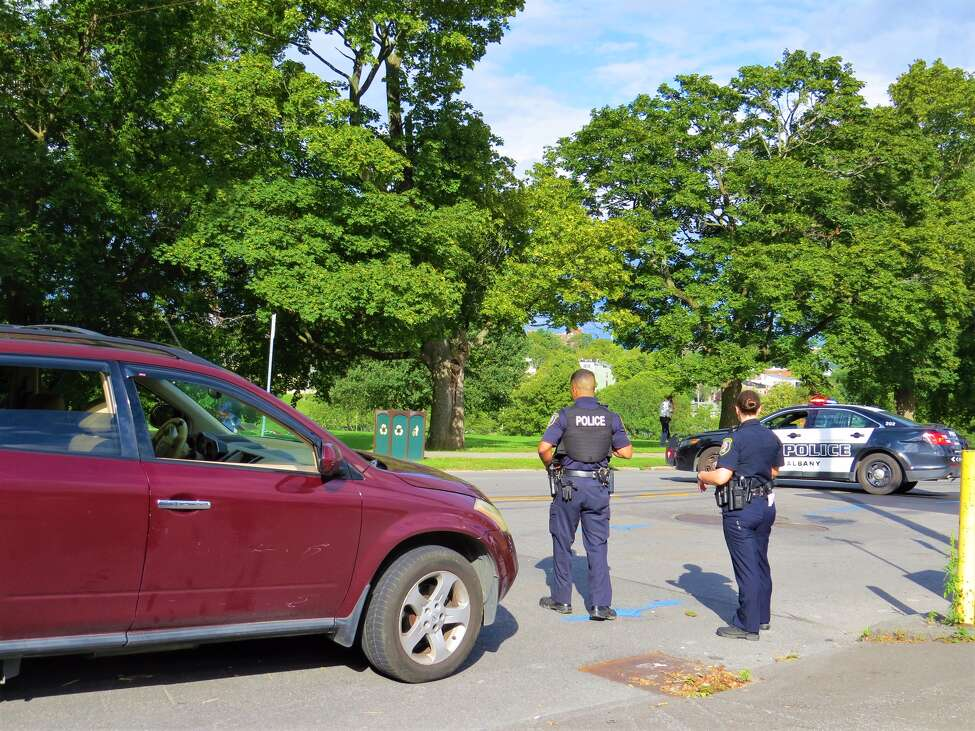 Police investigated a boy hit by a car in Albany on Saturday, Sept. 7, 2019.