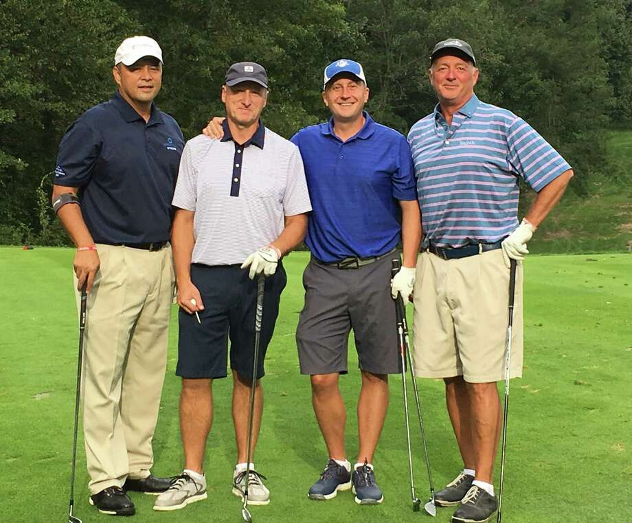 Ability Beyond's Annual Golf Championship and Tennis Tournament will be held on Monday, September 16, 2019 at Ridgewood Country Club in Danbury. Pictured at last year's fundraising event are Randy Namin, Joe Young, Matt Rich, and Dan Sharkey from Tier ONE Machining in Newtown. Photo: Contributed Photo / Contributed / The News-Times Contributed