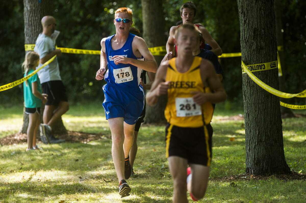 Gladwin's Jerod Guoan competes in the 51st Lancer Invitational Saturday, Sept. 7, 2019 at Stratford Woods Park. (Katy Kildee/kkildee@mdn.net)