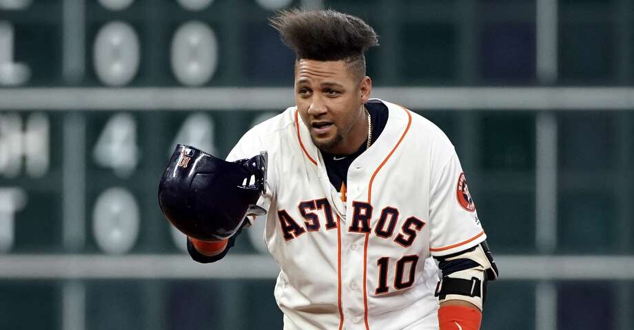 PHOTOS: Astros game-by-game Houston Astros' Yuli Gurriel tips his cap toward the dugout after hitting a two-run double during the first inning of a baseball game against the Detroit Tigers Monday, Aug. 19, 2019, in Houston. (AP Photo/David J. Phillip) Browse through the photos to see how the Astros have fared in each game this season. Photo: David J. Phillip/Associated Press