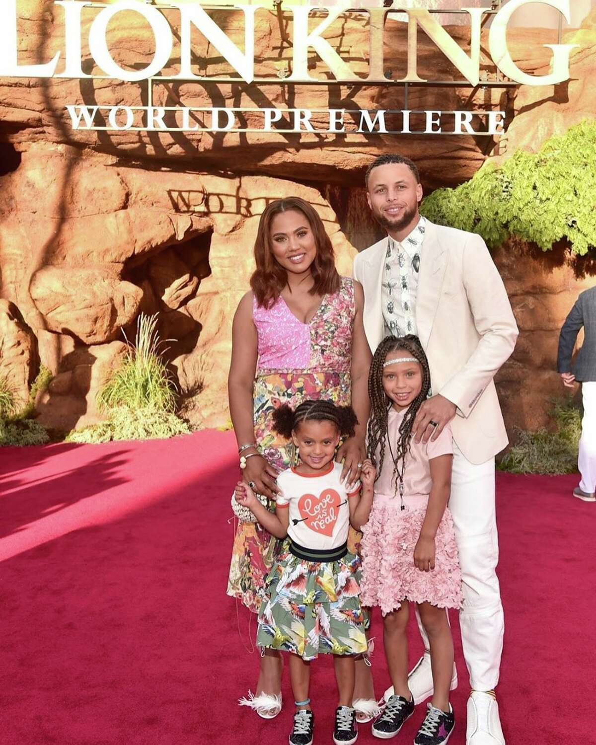 The Curry family - Stephen, Ayesha, Riley and Ryan - attended
