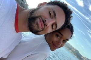 """Klay Thompson took a tour of France with his girlfriend, """"BlacKkKlansman"""" star Laura Harrier."""