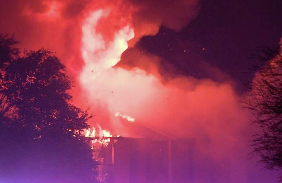 At least six families were displaced after a fire swept through an apartment complex building on the Northwest Side Sunday morning, Sept. 8, 2019, according to officials. Photo: 21 Pro Video