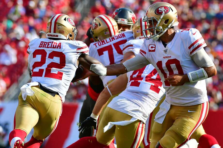 49ers running back Matt Breida has thoughts on a possible Super Bowl matchup with the Patriots
