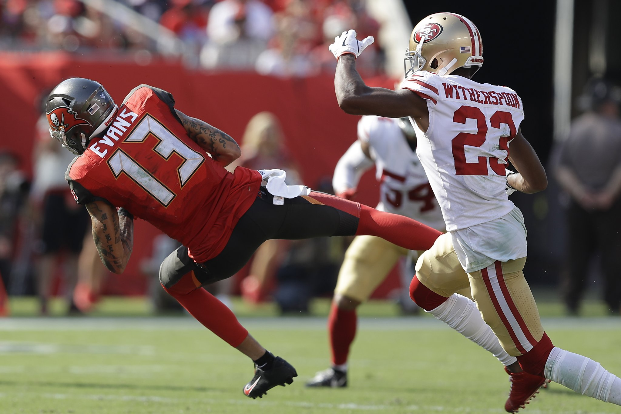 Mike Evans to 49ers' Ahkello Witherspoon: Did you know our offense?